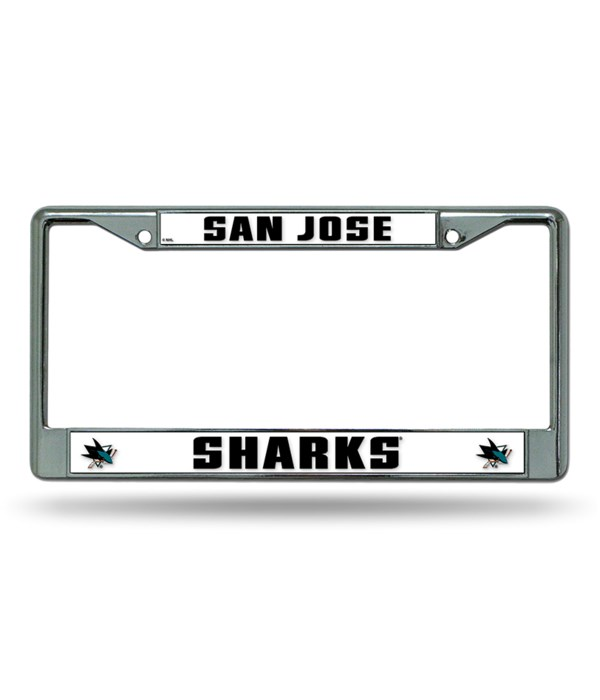 SAN JOSE SHARKS CHROME FRAME