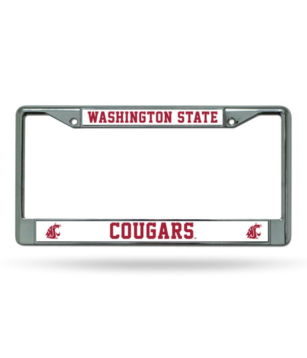 WASH STATE COUGARS CHROME FRAME