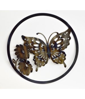 "BUTTERFLY 12"" Round Art"