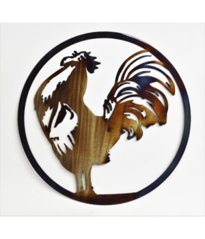 "ROOSTER 12"" Round Art"