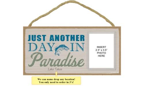 Lake & Cabin Photo Sign