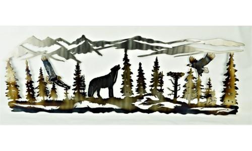 "Mountain Scene Wall Art 36"" x 18"" (12"")"