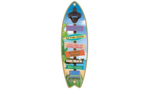 5x15 Surfboard Bottle Opener