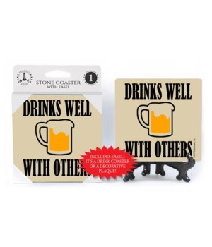 "4"" custom coaster 1Pack with easel"