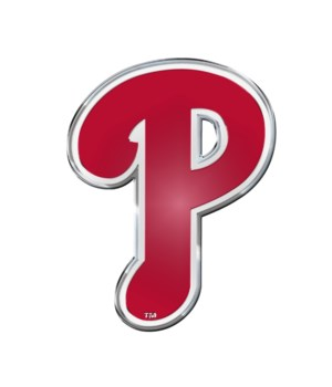 COLOR AUTO EMBLEM - PHIL PHILLIES