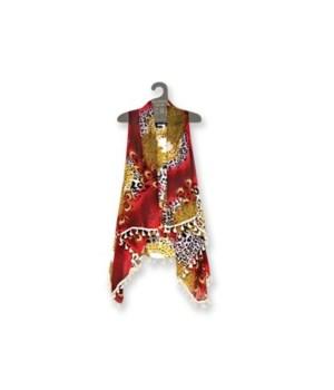 Fringe/ Tassel vests Feather PRNT