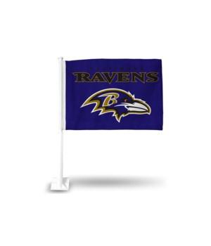 CAR FLAG - BALT RAVENS