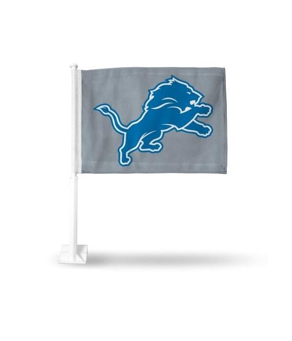 CAR FLAG - DET LIONS