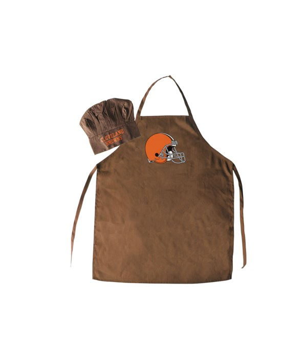 CHEF HAT & APRON - CLEV BROWNS