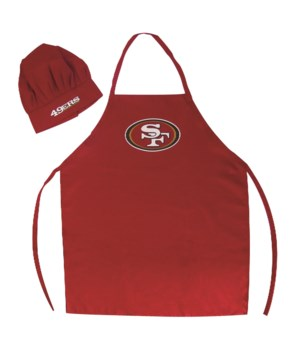 CHEF HAT & APRON - SF 49ERS