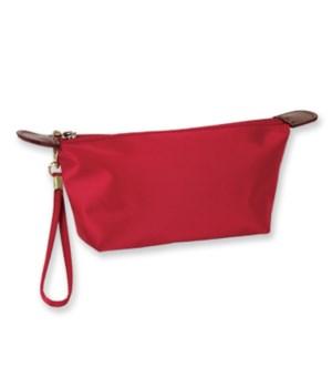 Red Nylon Cosmetic Bag 6PC