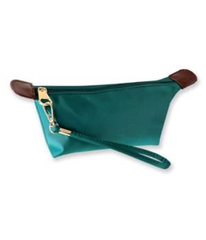 Teal Nylon Cosmetic Bag 6PC