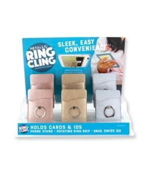 Metallic Ring Cling Cardholder 24PC