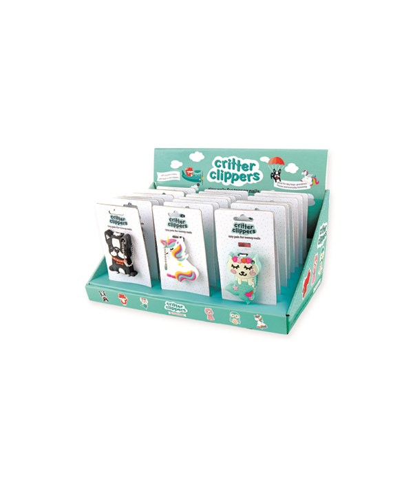 Kids Critter Nail Clippers 24PC