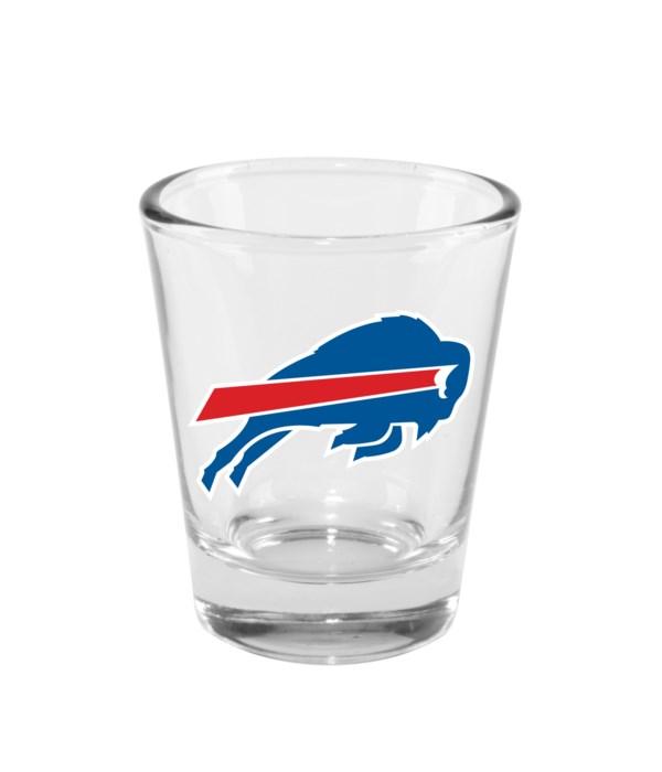 CLEAR SHOT GLASS - BUFF BILLS