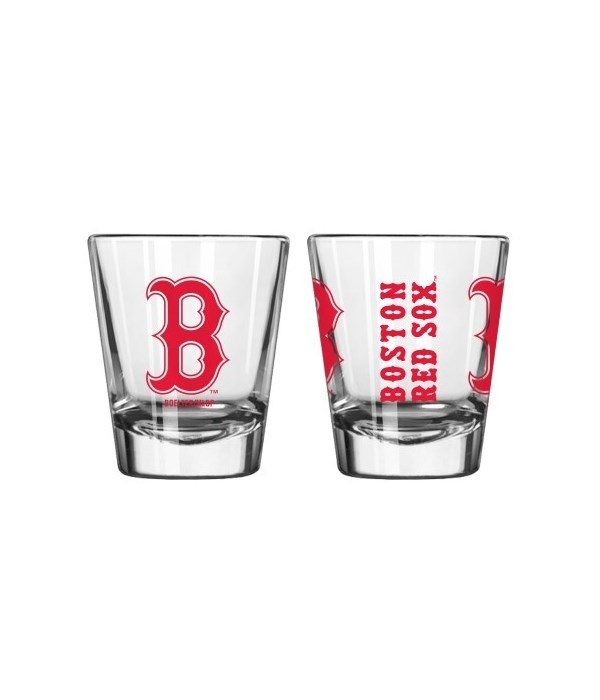 CLEAR SHOT GLASS - BOS RED SOX