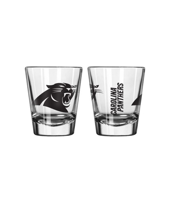 CLEAR SHOT GLASS - CAR PANTHERS