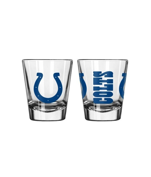 CLEAR SHOT GLASS - IND COLTS