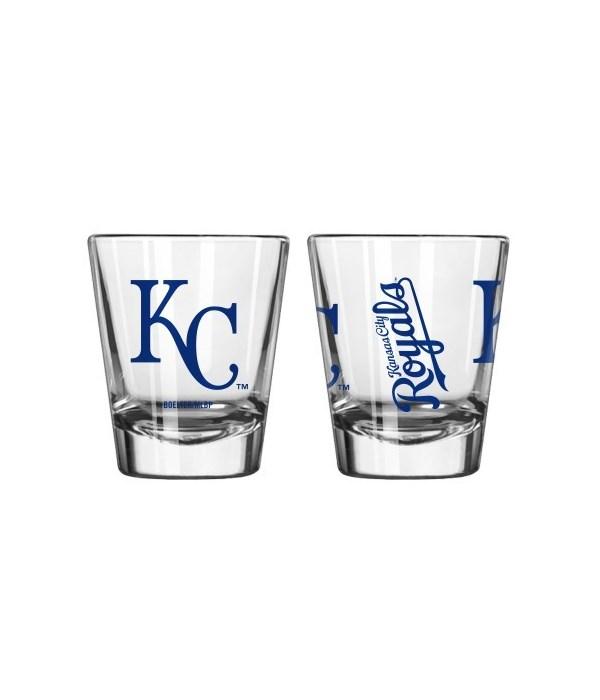 KC Royals Clear Shot Glass