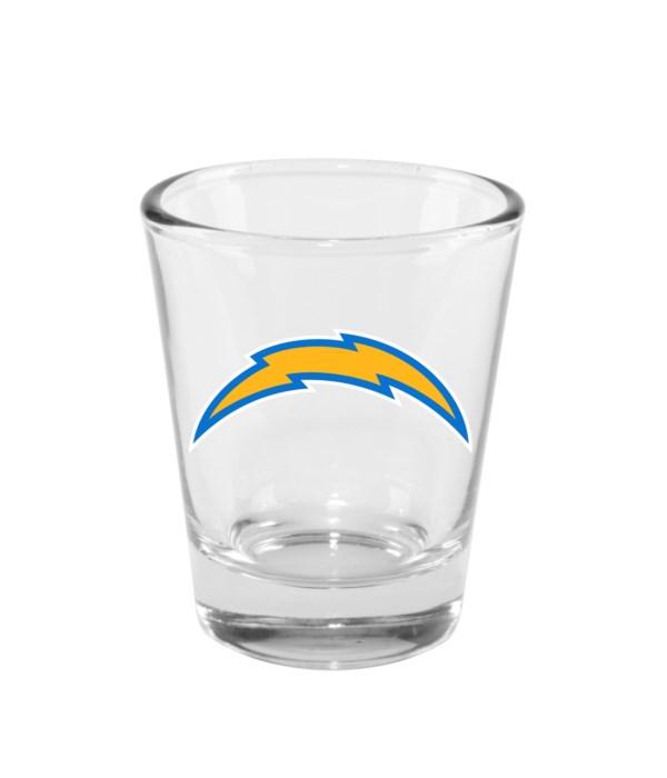 CLEAR SHOT GLASS - LA CHARGERS
