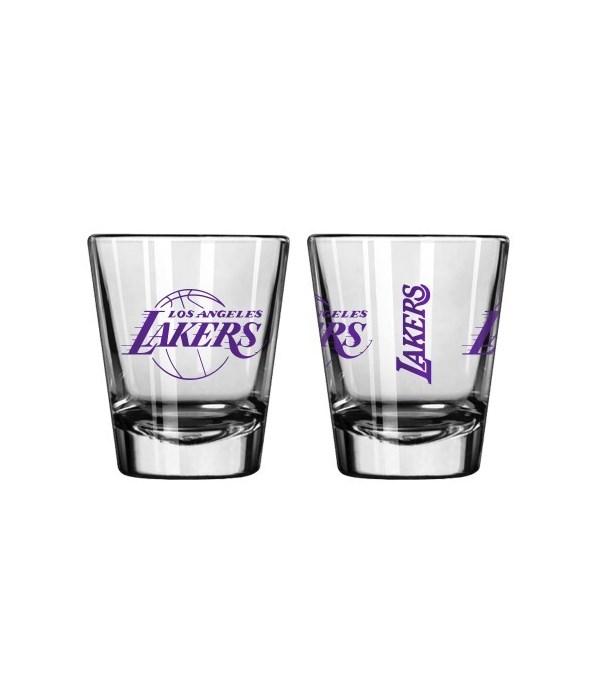 CLEAR SHOT GLASS - LA LAKERS