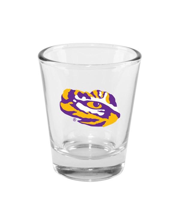 CLEAR SHOT GLASS - LSU TIGERS