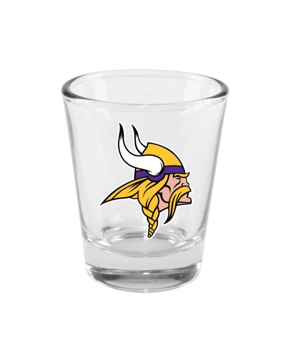 CLEAR SHOT GLASS - MINN VIKINGS