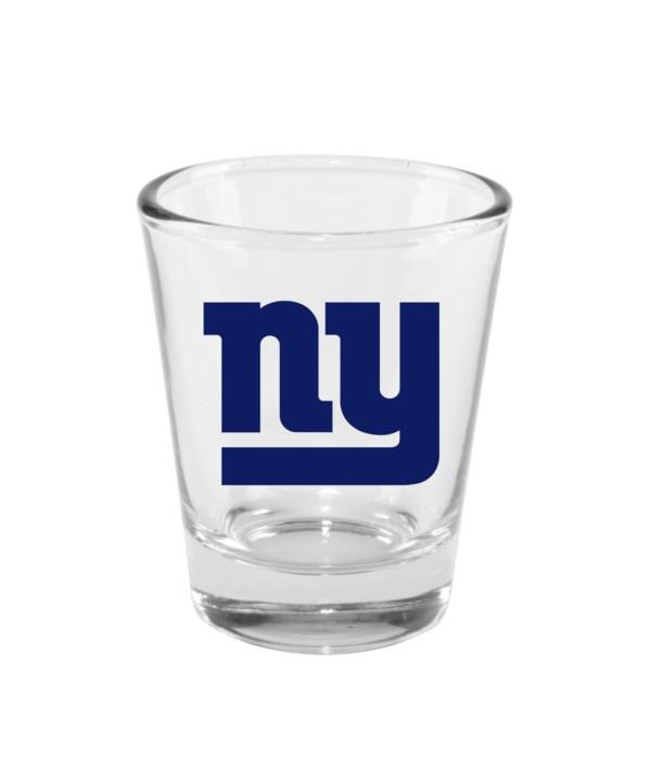 CLEAR SHOT GLASS - NY GIANTS