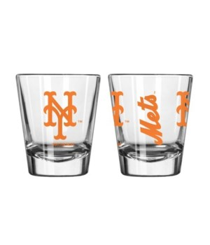 CLEAR SHOT GLASS - NY METS