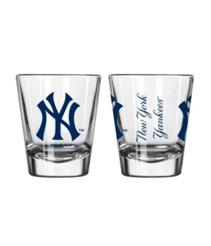 CLEAR SHOT GLASS - NY YANKEES