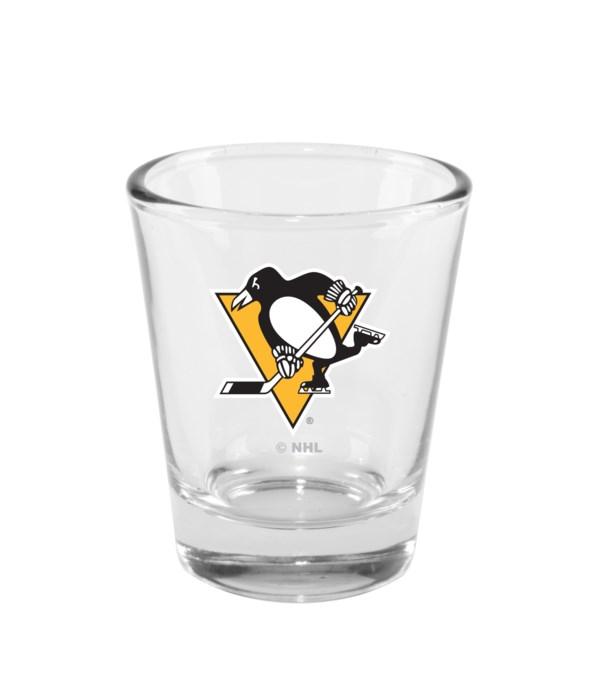 CLEAR SHOT GLASS - PITT PENGUINS