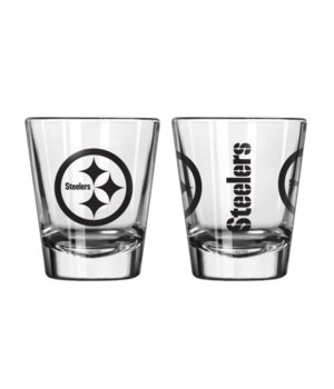 CLEAR SHOT GLASS - PITT STEELERS