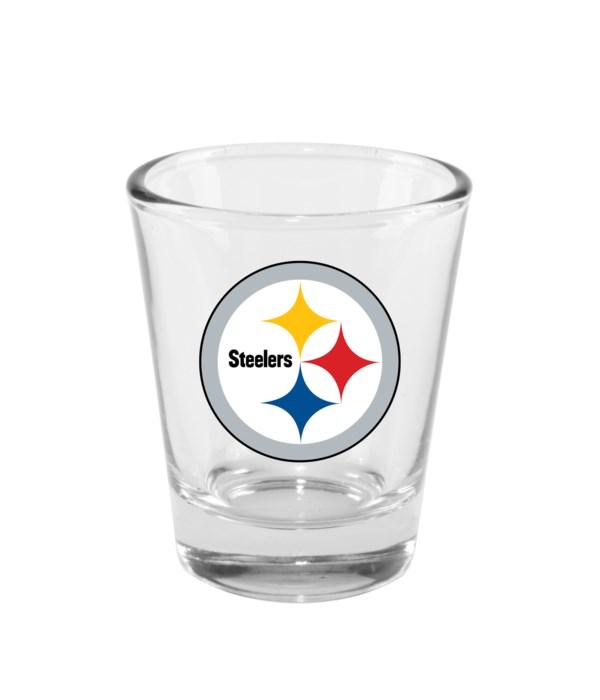 CLEAR SHOT GLASS - PITT STEELERS