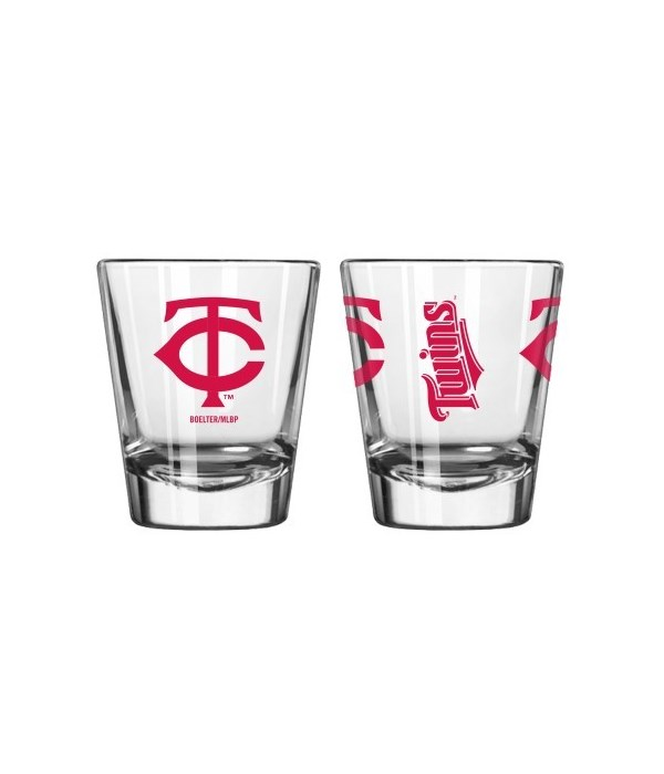 MN Twins Clear Shot Glass
