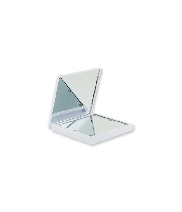 White Lighted Compact Mirror 4PC