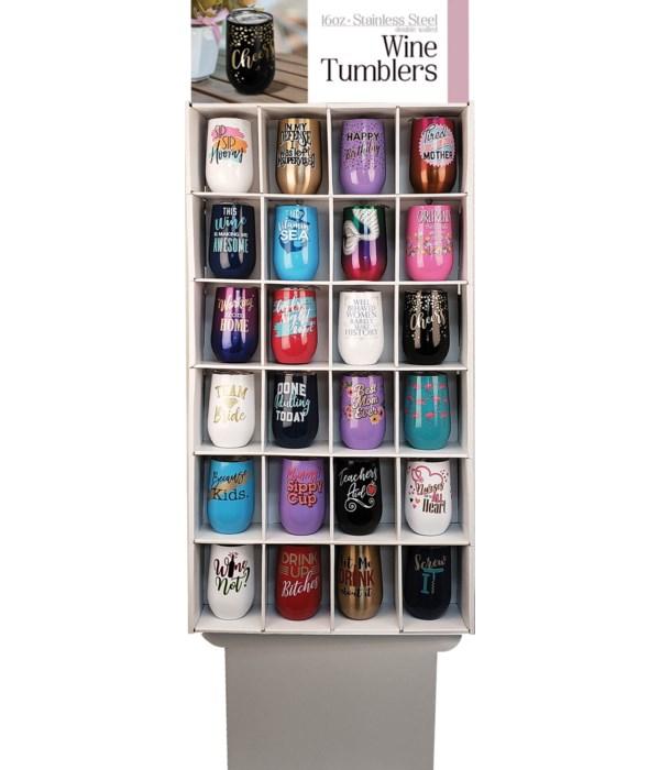Wine Tumbler floor display