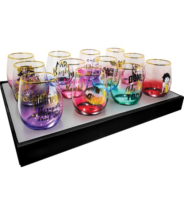 Stemless Glass counter display