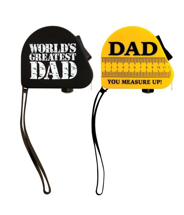 World's Greatest Dad Mini Tape Measure