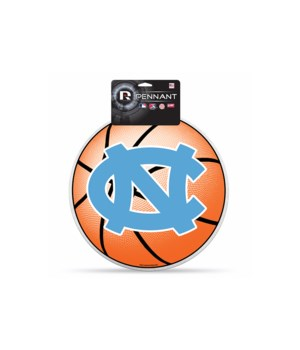 NC TARHEELS DIE CUT PENNANT BASKETBALL