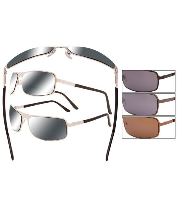 Men's metal wire sunglasses