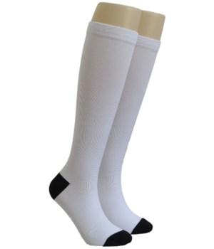White Dr. Foozys Compression Socks