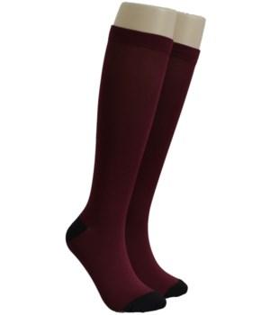 Burgundy Dr. Foozys Compression Socks