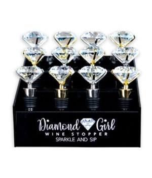 Diamond Girl Wine Stopper 12PC