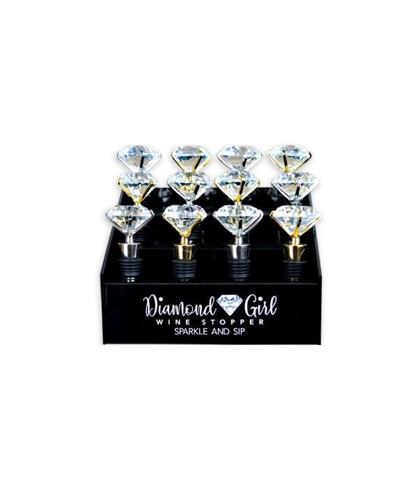 Diamond Girl Wine Stopper 12PC