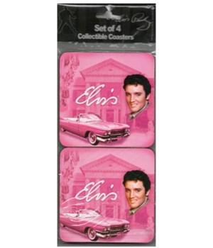 ELVIS COASTER SET # 1 PINK
