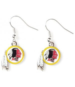EARRINGS - WASH REDSKINS