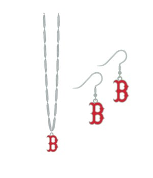 EARRING/NECK SET - BOS RED SOX