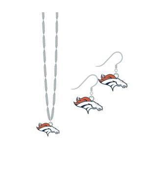 EARRING/NECK SET - DEN BRONCOS