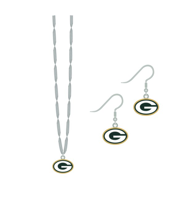 EARRING/NECK SET - GB PACKERS