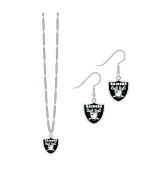 EARRING/NECK SET - OAK RAIDERS